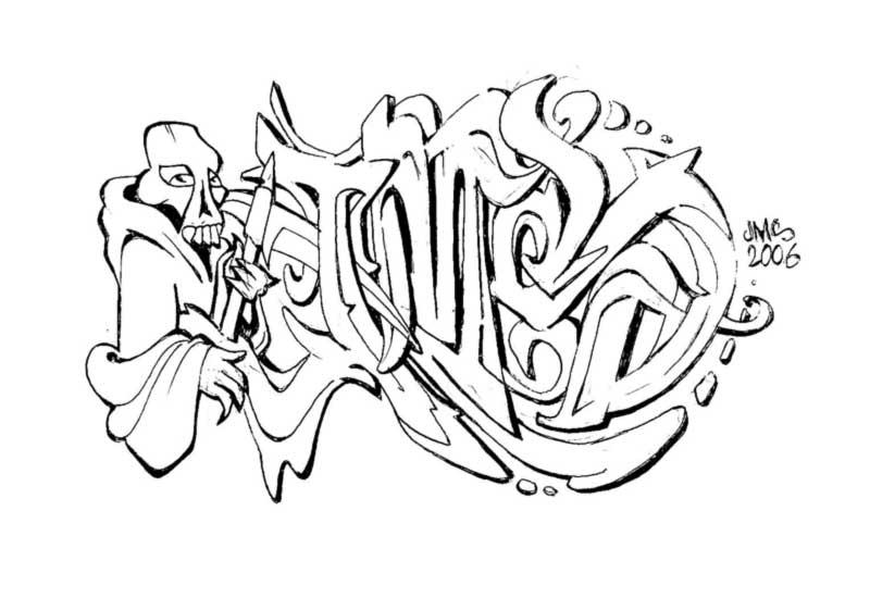 M J Sketch Images JMS reaping sketch by ...