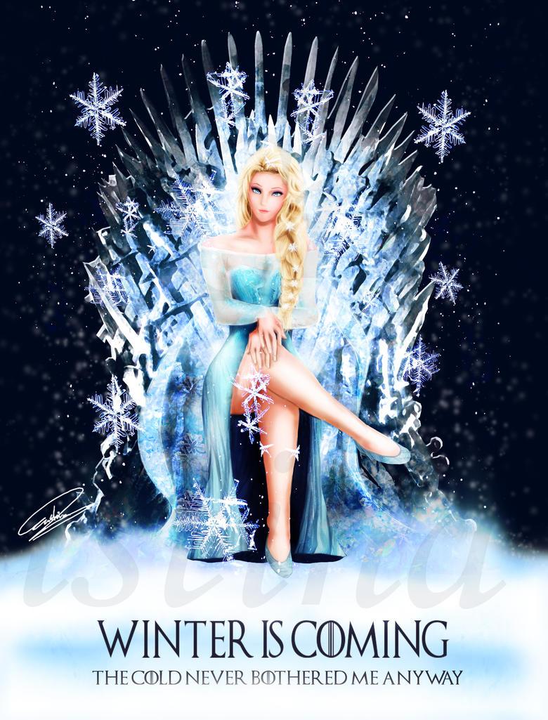 queen_elsa___frozen_winter_is_coming_by_
