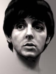 Paul McCartney 1964 by JennBredemeier