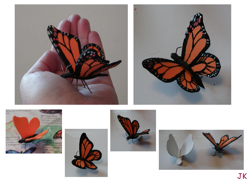 how to make a monarch butterfly model