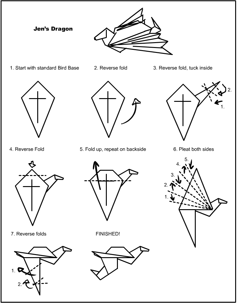 Jens Dragon Origami Instructions By Vampiratemace On Deviantart