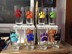 Rainbow Paw Drink Glasses by sweetmorpheus
