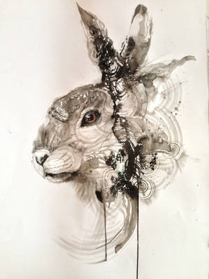 Ink Rabbit by huatunan
