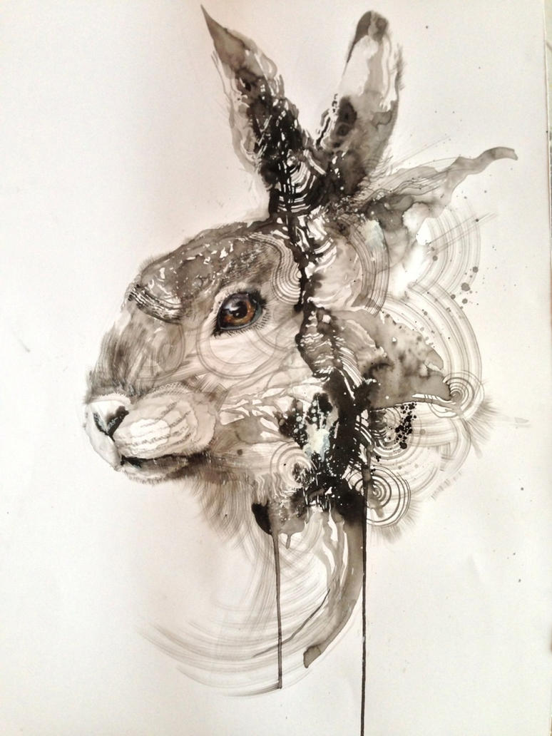 Ink Rabbit by huatunan