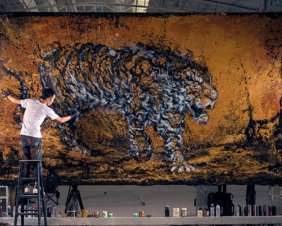 Drunken Tiger by huatunan