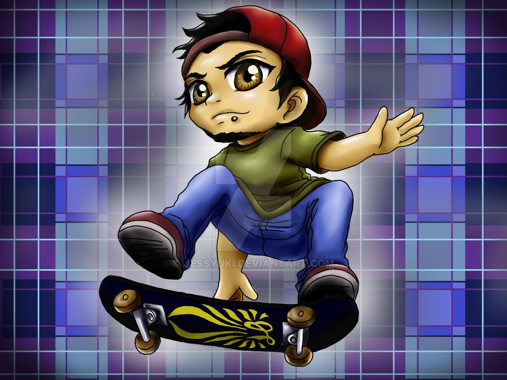 SKATER POCKET CHIBI by JessYuki