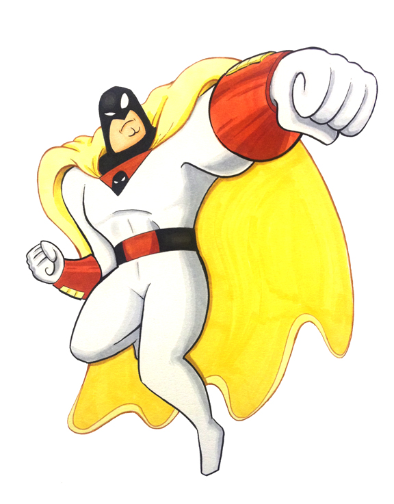 Hartford Comic Con 2015 - Space Ghost by Underburbs