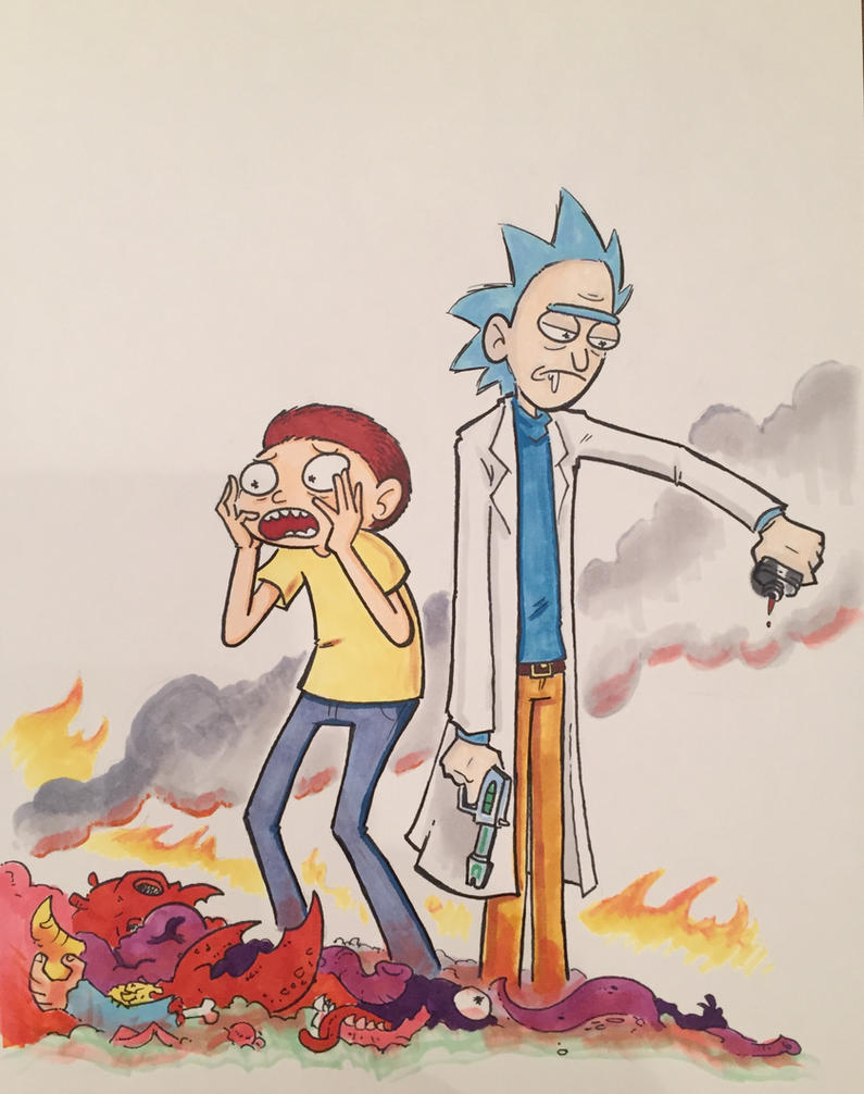 Beverly Comic Con 2017: Rick and Morty by Underburbs