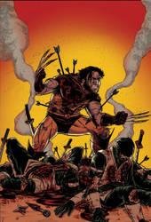 Wolverine vs Ninjas! COLORS! by jciolli