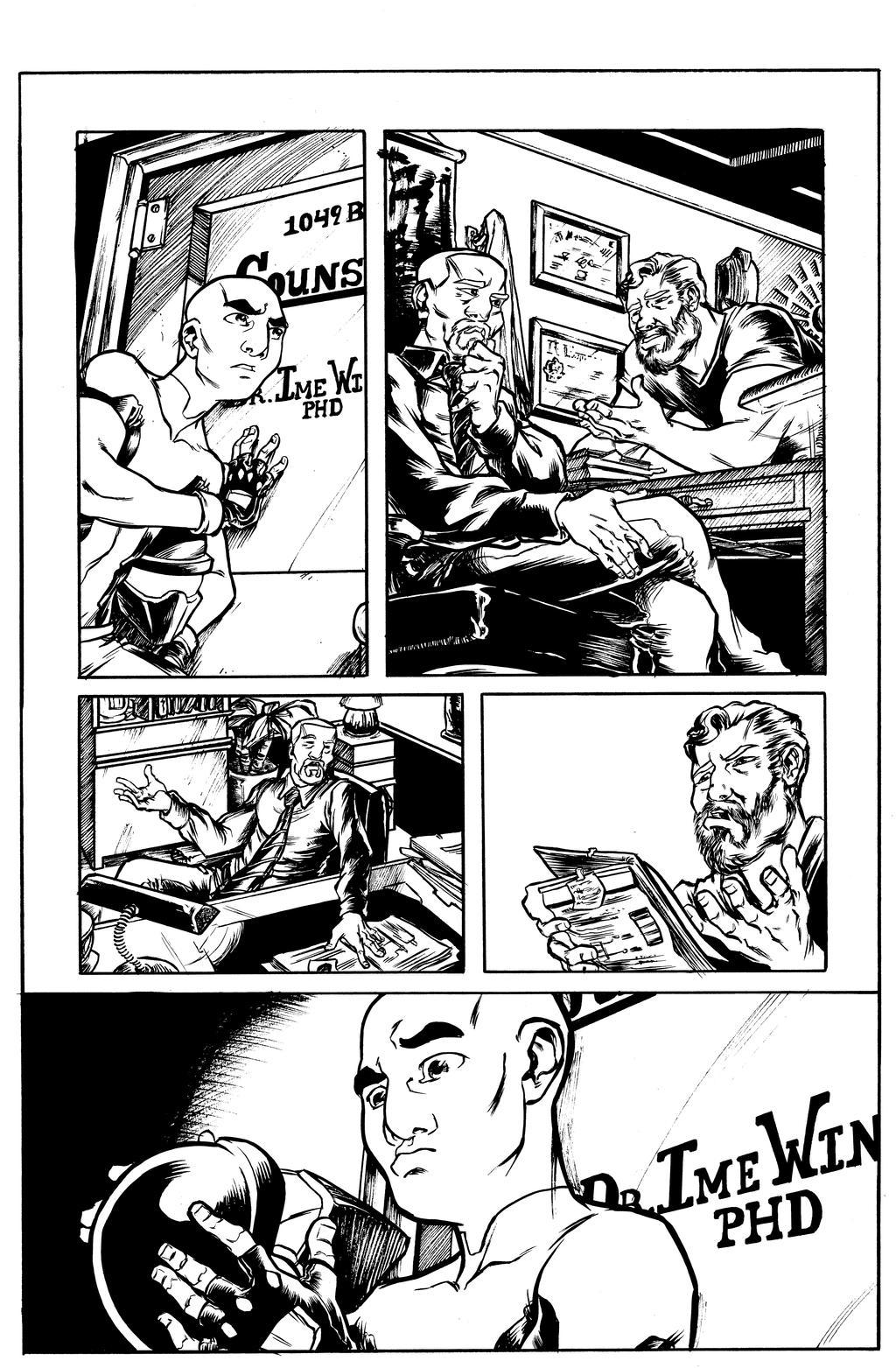 Atlas #1 Page 4 Inks by jciolli