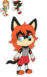 A shadow x Tikal  fan kid for Albino-Babs by spiritumiracle