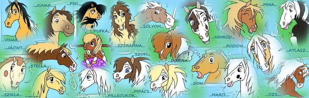My original horse comic characters by ZsofiaGyuker
