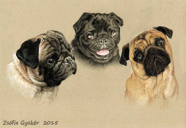 TRIPLE portrait commission 2 by ZsofiaGyuker