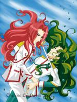 Utena Fan Art: Touga + Saionji by thereseldavis