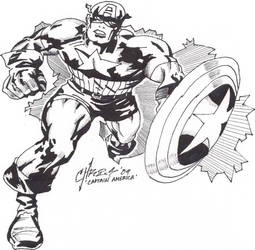 Captain america hand drawn by DTPayne