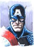 Captain america Painted