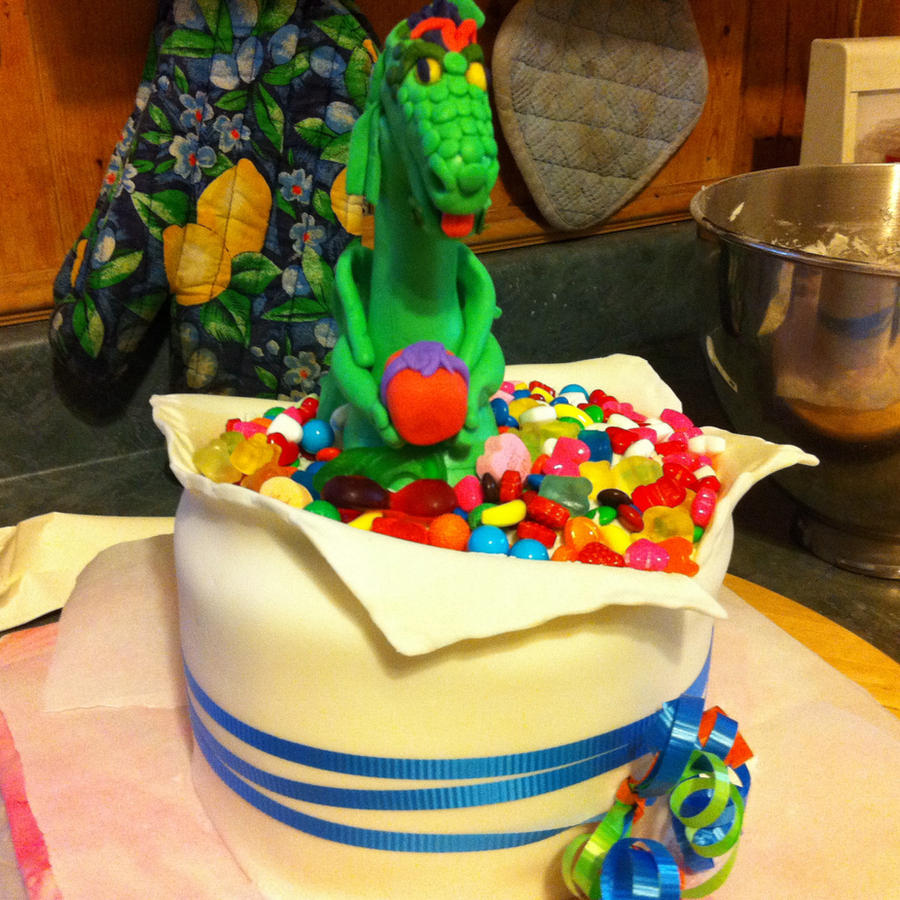 Dragon Surprise Birthday Cake By MamaIcyMouse On DeviantArt