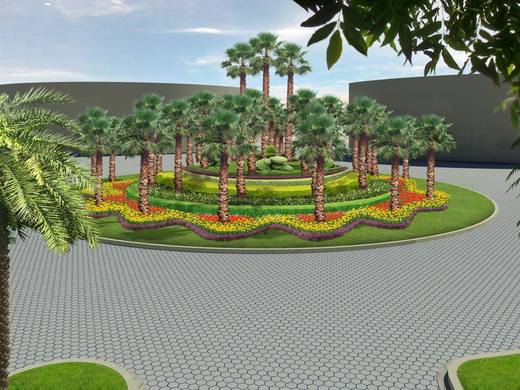 Pictures of landscaped roundabout pdf for Design my garden