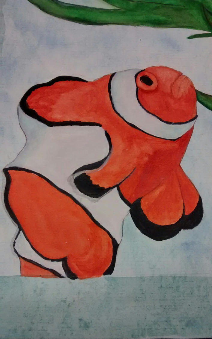 Water Color Clown Fish by Dragonshadow3 on DeviantArt