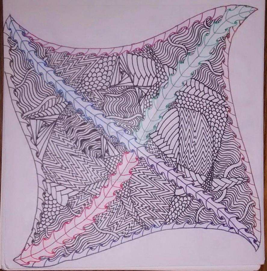 Zentangle Tile #2 by Dragonshadow3