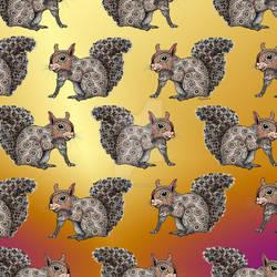 Squirrel Totem Pattern