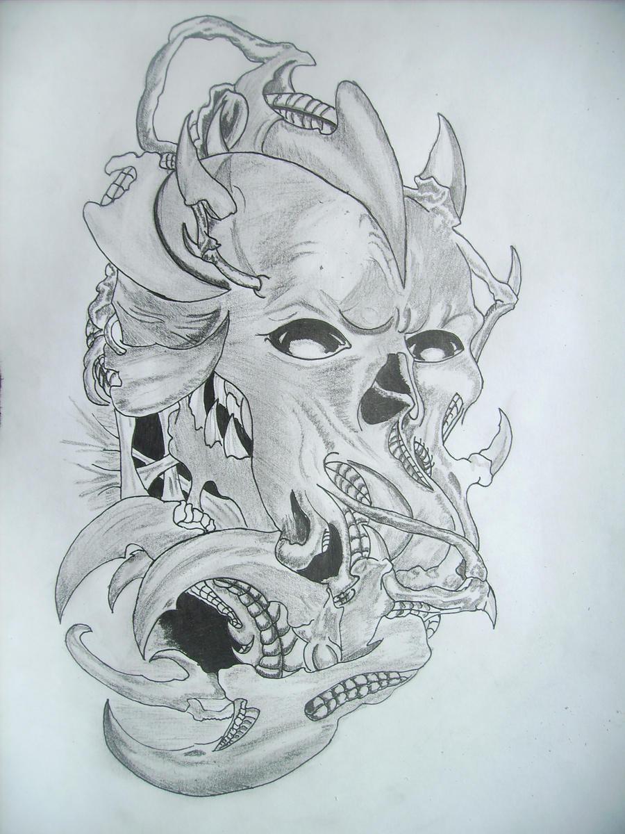 Devil Face Line Drawing : Devil s face by charismatiqa on deviantart