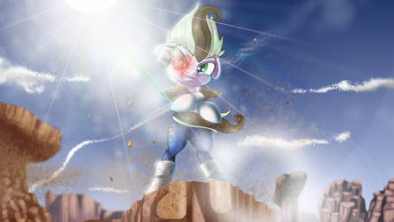 OC and Vegeta crossover. by Skwareblox