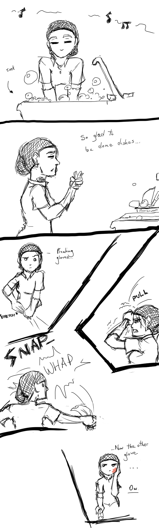Comic - glove slap by Absolute-Sero