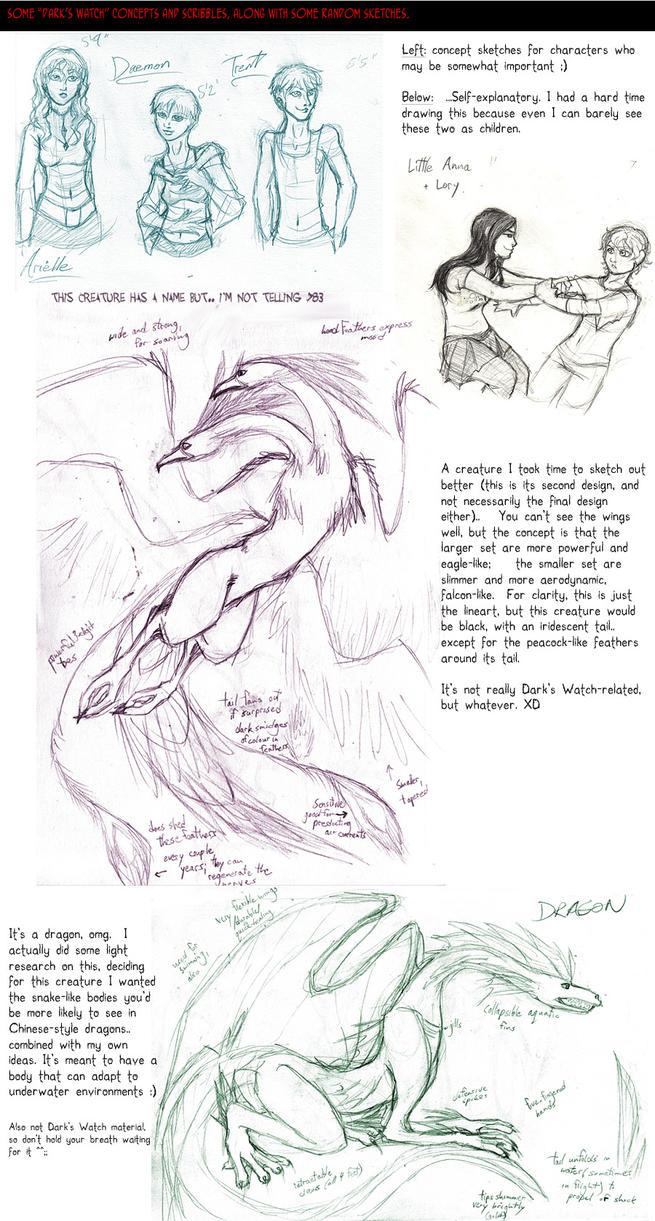 'Dark's Watch' sketchdump-2 by Absolute-Sero