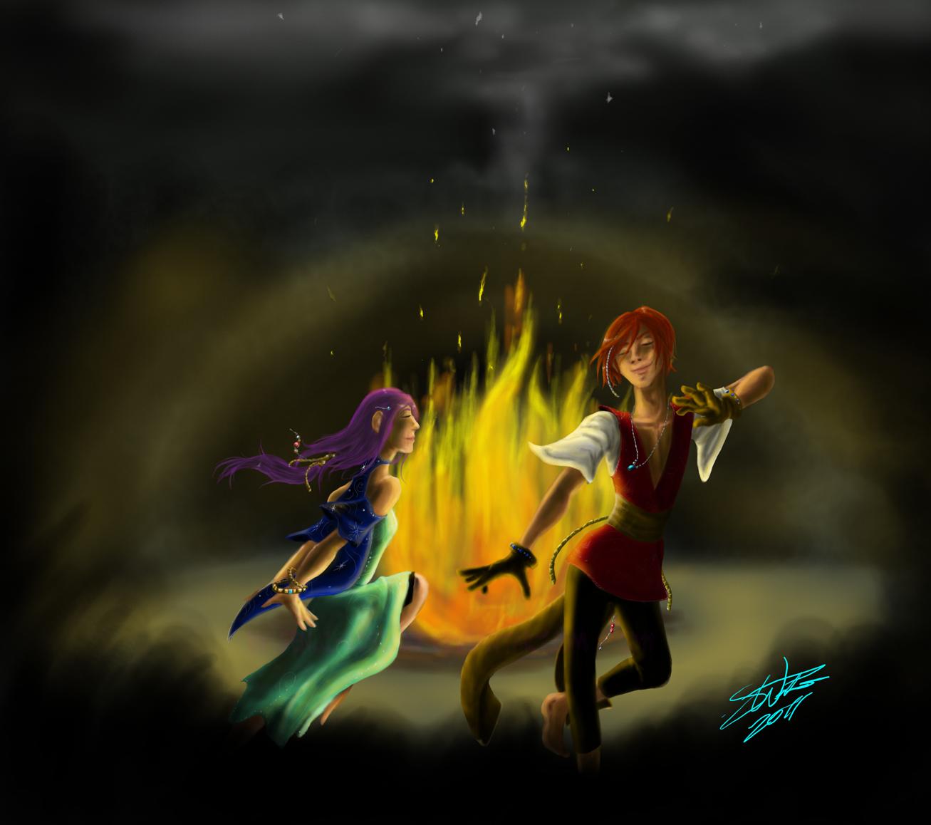 Bonfire Dance by Absolute-Sero