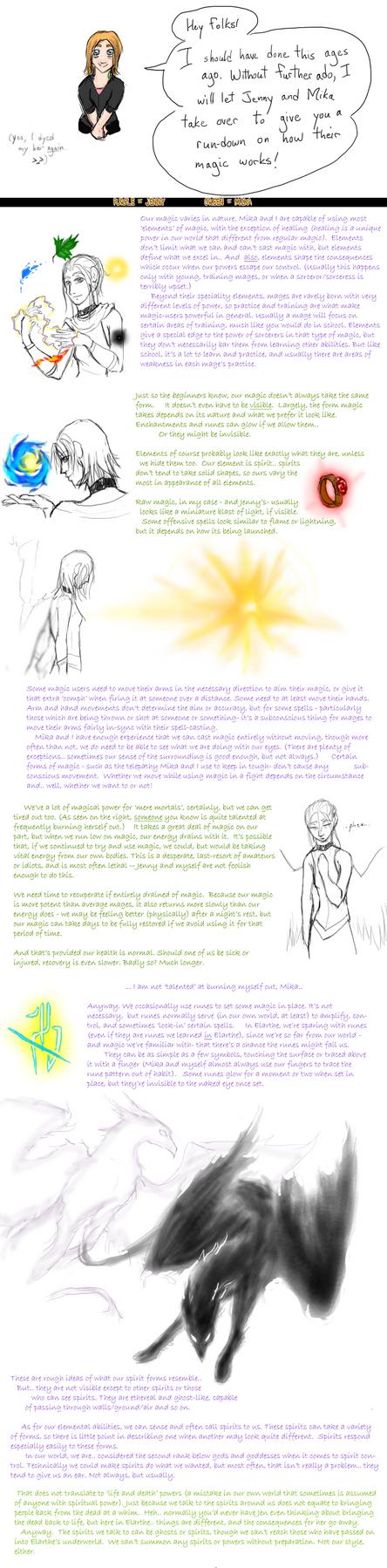 EA-LEC:  Jenny and Mika's magic, course 101 by Absolute-Sero