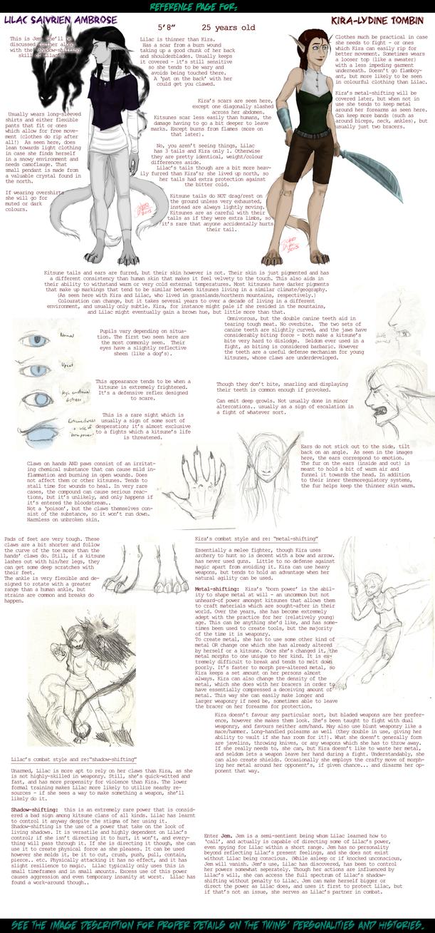 Reference - kitsune twins 'Kira' and 'Lilac' by Absolute-Sero
