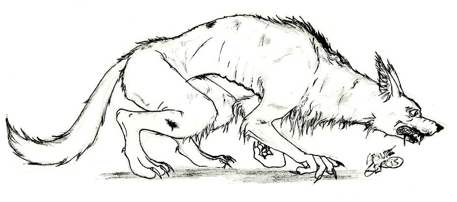 Sketch - werewolf by Absolute-Sero