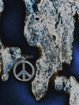 Peace in blue silver