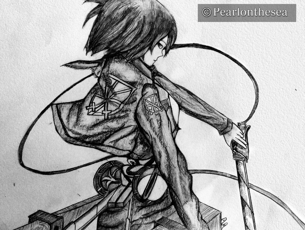 attack on titan mikasa ackerman by pearlonthesea on
