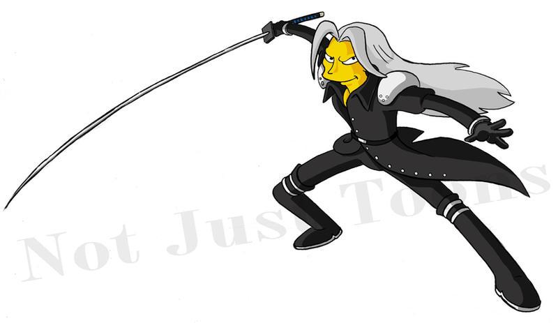 naruto + FF + simpson :D Sephiroth_Simpson_by_Morpheus306