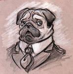 Dog Caricature Pug
