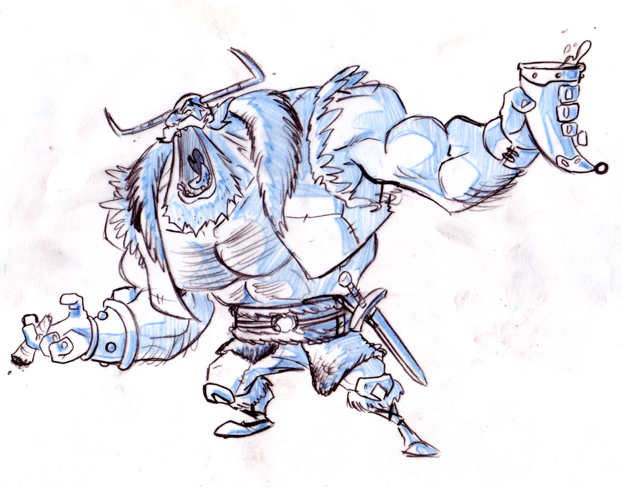 Viking challenge Sketch by Morpheus306