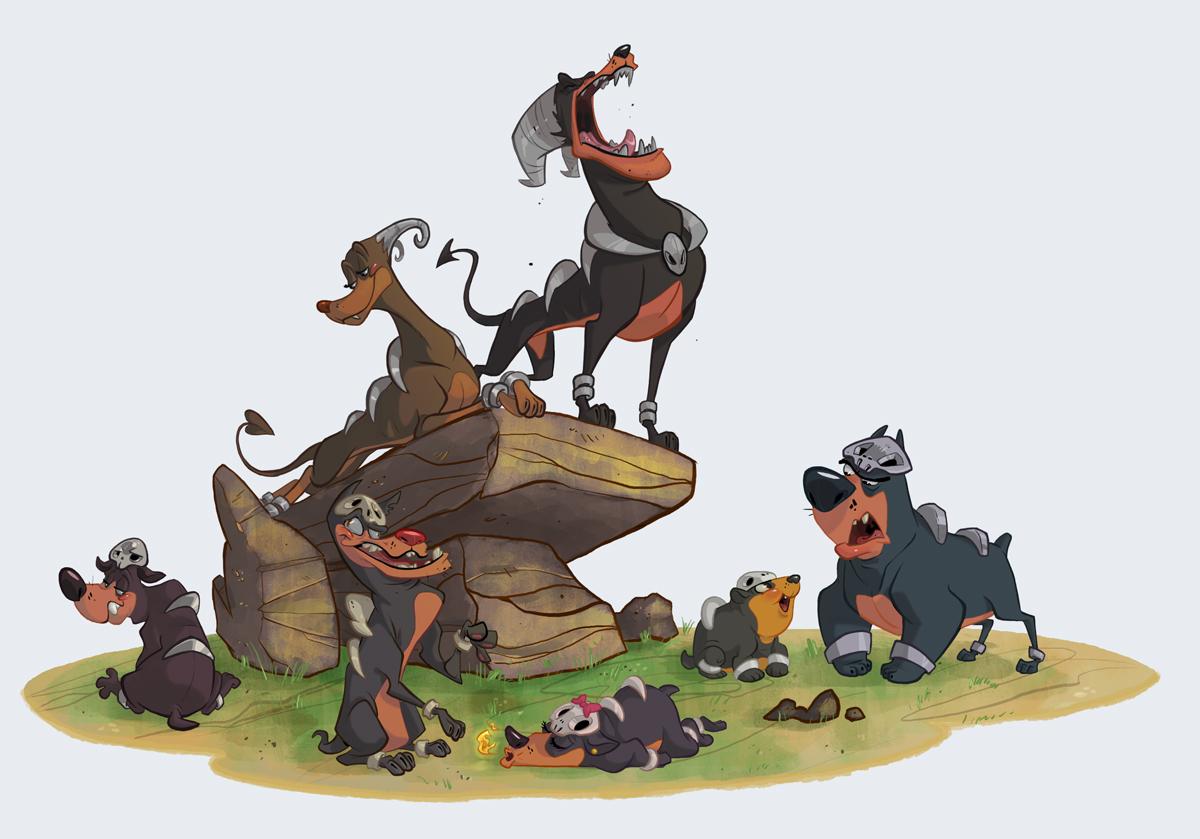 Just awesome Pokémon stuff - Pagina 2 Houndour_pack_by_morpheus306-d7x97x3