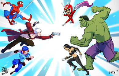 Marvel vs. Capcom colab by Morpheus306