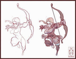 She's an archer by Morpheus306