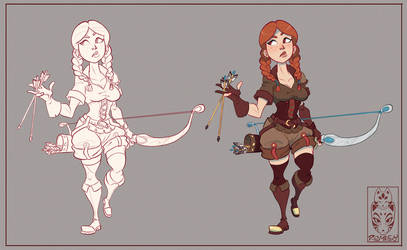 Archer Girl character sheet by Morpheus306