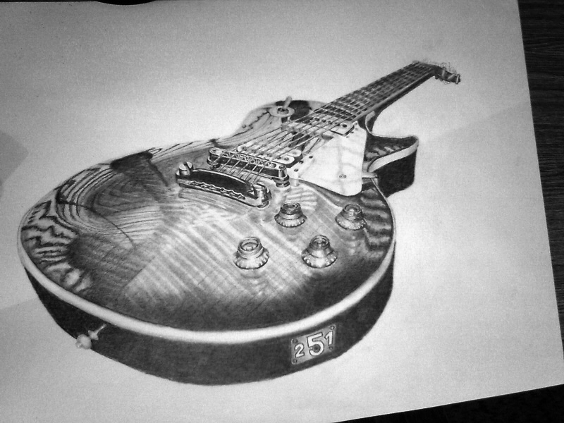awesome guitar drawings images galleries with a bite. Black Bedroom Furniture Sets. Home Design Ideas