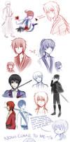 Rurouni Kenshin Sketch Dump