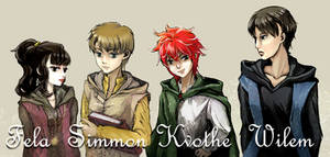 Young Kvothe and friends