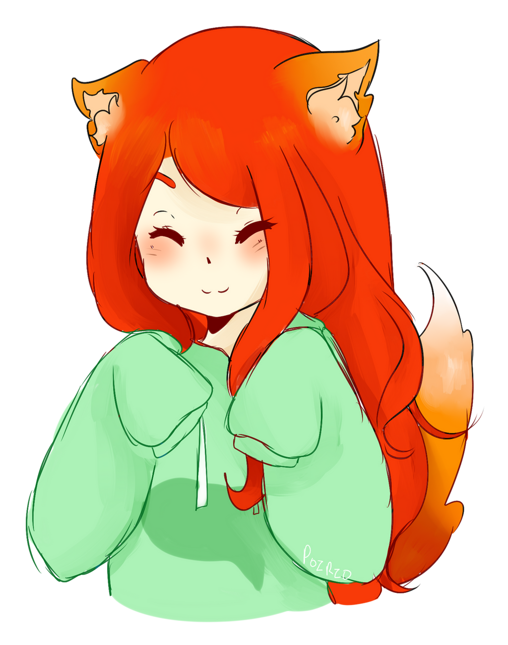 Fox Girl Drawing [Art Fight!] cute fox ...