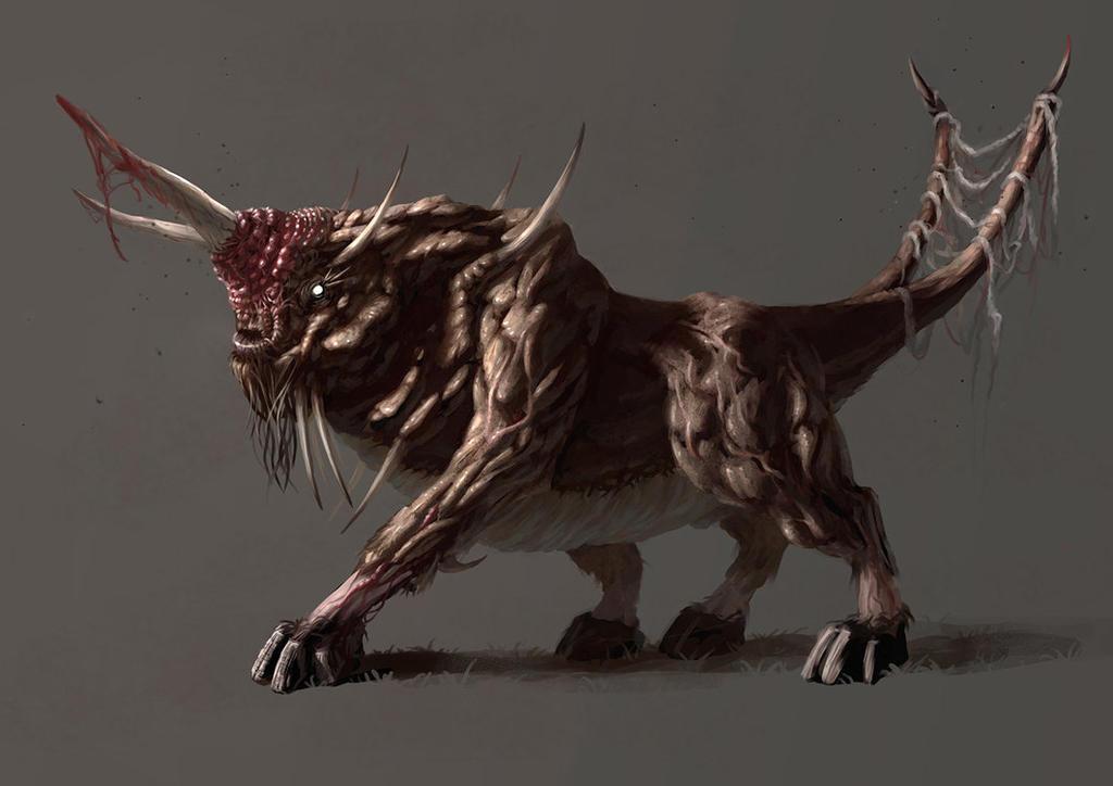 Mythical Hybrid Beast  Letters Crossword Clue