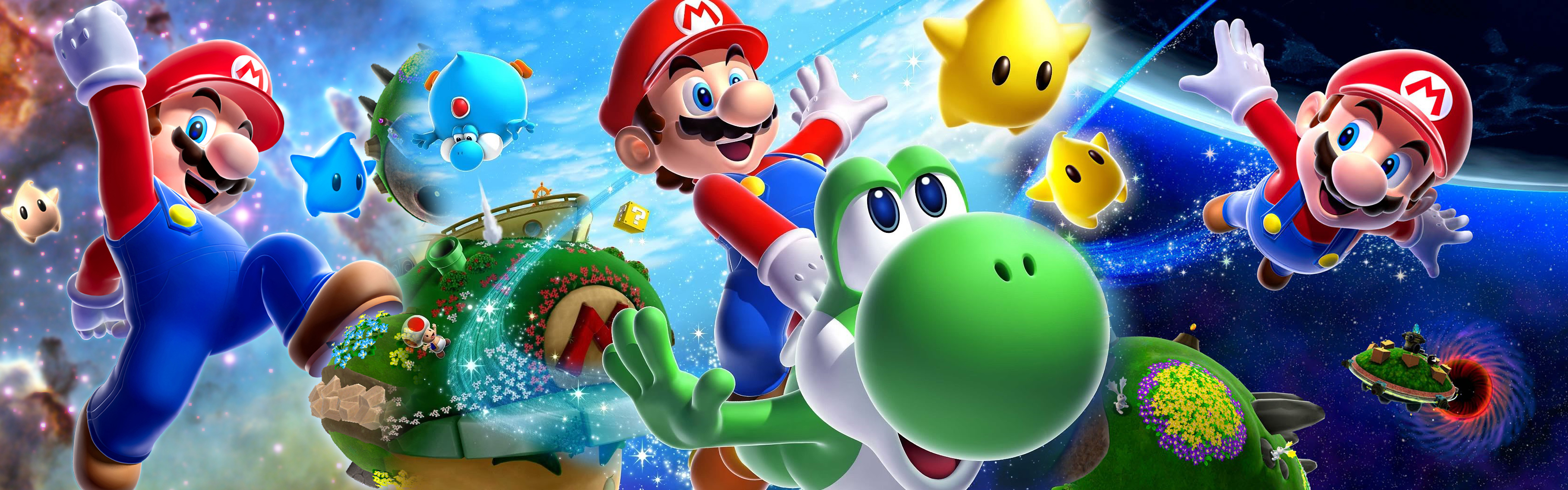 Super Mario Galaxy 2 Wallpaper by Toxigyn