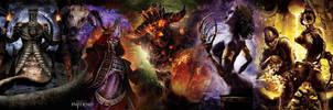 Dante's Inferno wallpaper dual by Toxigyn