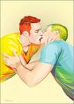 kiss by MARiKaArt